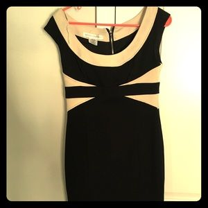 BlackWhite Bodycon Cocktail Dress/Business Causual